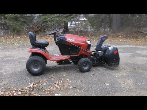 Installing a Used Craftsman Snowblower on a Riding Lawnmower