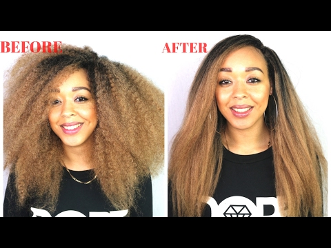 CROCHET BRAIDS TUTORIAL!: How to get your Marley/ kinky hair straight!