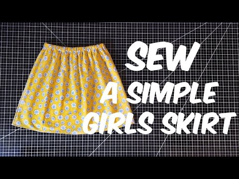 Sew with me | How to Sew A Girls Skirt Any Size