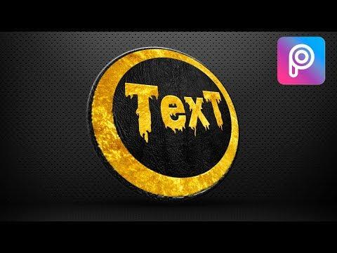 Golden Text Logo Designing Tutorial | Picsart Editing Tutorials