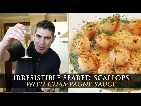 Seared Scallops Recipe with Champagne Sauce