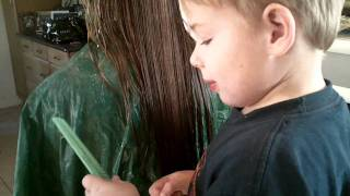 4 year old cuts sister's hair!