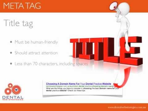 Meta Tags For Dental Practice Websites