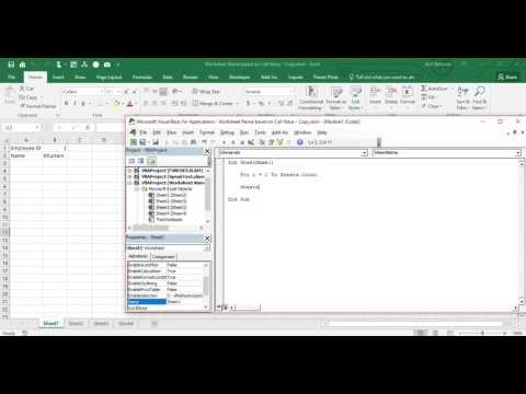 VBA Excel   Worksheet's Name based on Cell Value