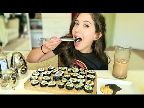 SUSHI ROLL MUKBANG! (Eating Show)