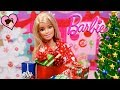 Barbie Doll Opens 24 Christmas Presents Shoes Dollhouse Accesories And Pets