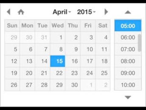 Date and time picker with html5