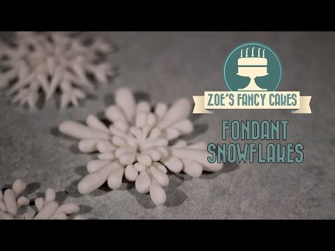 Fondant snowflake cake topper modelling paste how to cake decorating tutorial