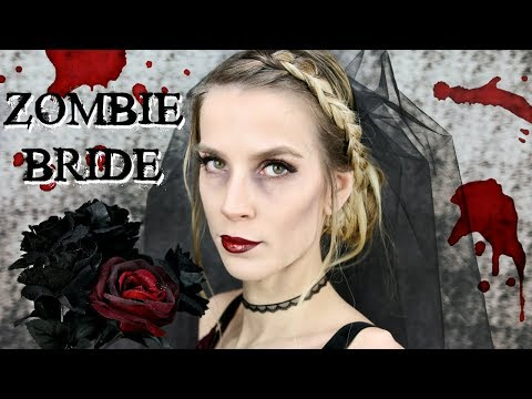ZOMBIE BRIDE HALLOWEEN COSTUME | Hair + Makeup Tutorial