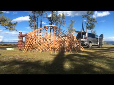 Making of a Yurt in Mongolia