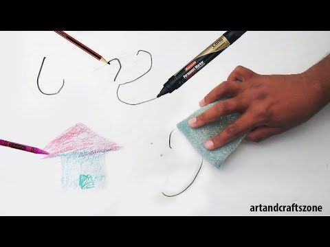 How to remove all from wall (crayons, permanent marker, pencils)