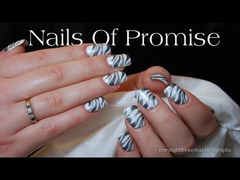 Silver Ripple Live Nail Art Tutorial. Nails Of Promise.