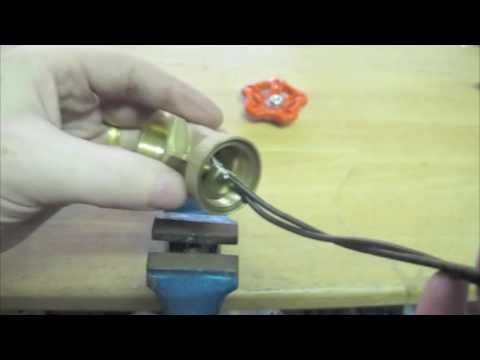 DIY Water Valve Light Switch Industrial Steampunk Copper Lamp with Gate Valve light Switch Tutorial