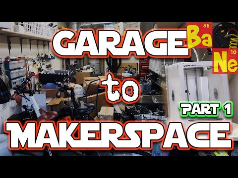 Building my Makerspace & Video Recording Studio Part 1!