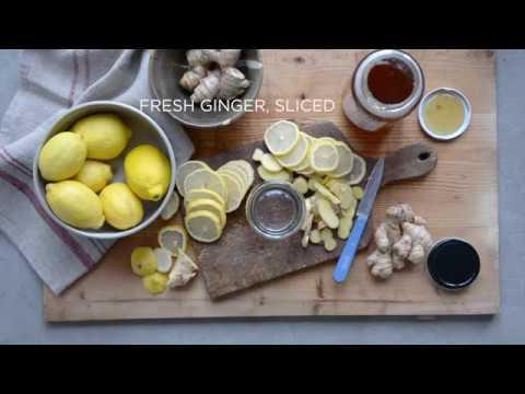 All-Natural Cold + Flu Remedy (Honey, Lemon, and Ginger Tea)