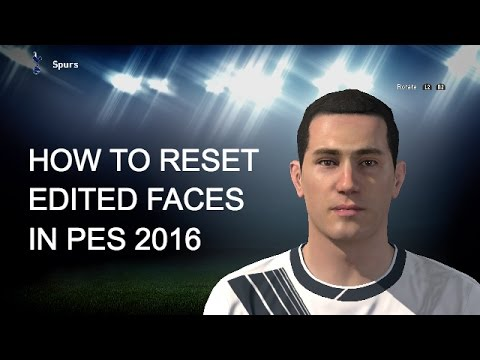 HOW TO RESET EDITED PLAYER FACES/APPEARANCES IN PES 2016 (EASY TUTORIAL)