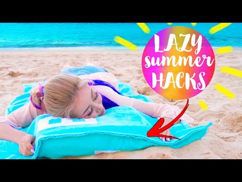 10 DIY Summer Life Hacks EVERY LAZY Person Should Know!!