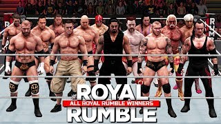All Royal Rumble Winners 1988 To 2017! ( WWE 2K18 )