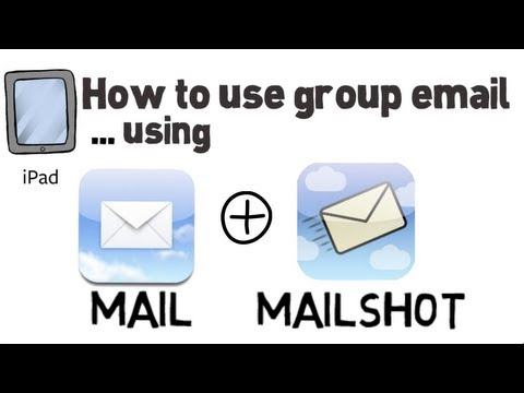 How  to setup and use groups in mail on the iPad