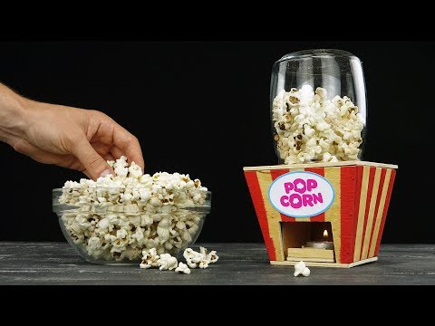 DIY Popcorn Machine from Wood at Home