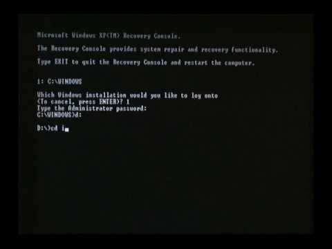 How to replace NTLDR and NTDETECT in Recovery Console