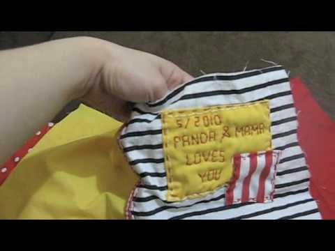 How to make cloth book for babies