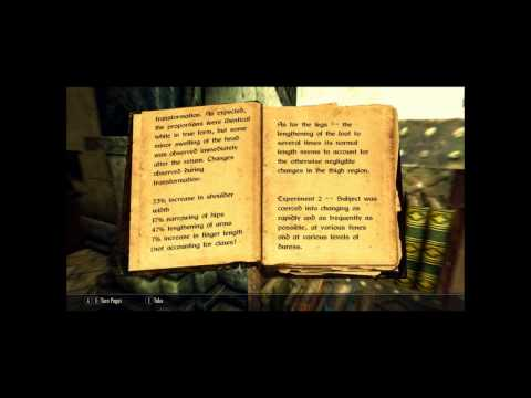 Skyrim storytime - Physicalities of Werewolves