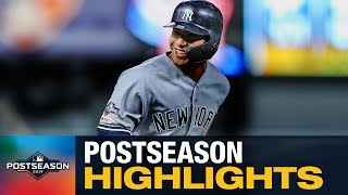 Gleyber Torres' 2019 MLB Postseason Highlights (Yankees' young star bats .324 with 3 HRs, 10 RBIs)