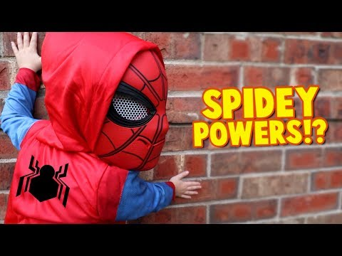 Spider-Man Powers!? Spider-Man Homecoming Movie Gear Test for Kids Pt. 2 by KIDCITY