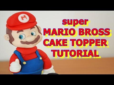 SUPERMARIO BROSS CAKE TOPPER TUTORIAL FONDANT - PASTA DI ZUCCHERO TORTA NINTENDO