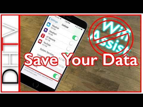 iPhone Wifi Assist Is Using Your Data!? - Save Your Data (Turn Wifi Assist Off)
