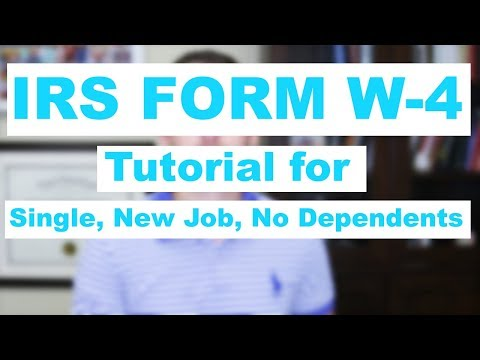 How to fill out the IRS Form W-4 Single Employment No Dependents