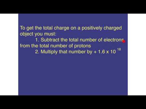 How to calculate the charge on an object