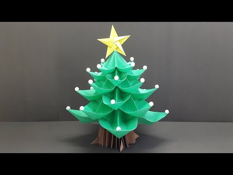 Paper Christmas Tree 3D - How to make Origami Christmas Tree Easy