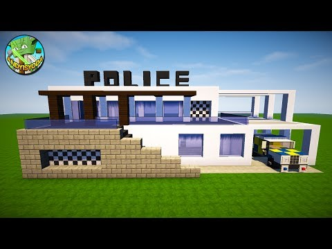 Minecraft: How to Build a Modern Police Station