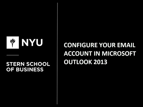 Configure Your Email Account in Microsoft Outlook 2013