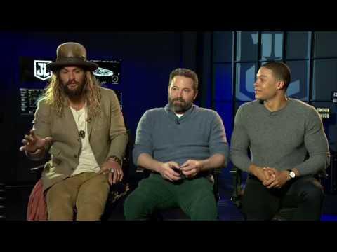Jason Momoa, Ben Afflcek & Ray Fisher (Justice League) on PLAN B