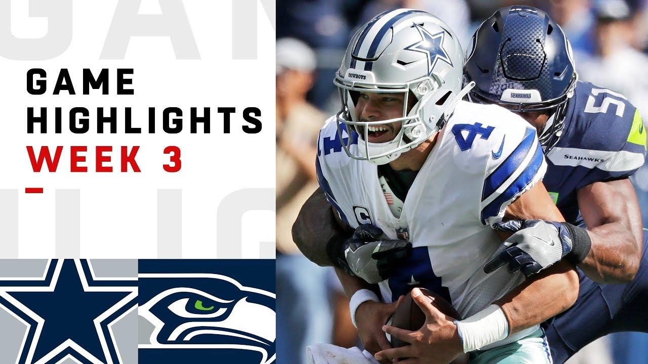 Cowboys vs. Seahawks Week 3 Highlights | NFL 2018