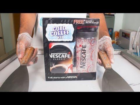 NESCAFE COLD Coffee ICE CREAM ROLLS - SATISFYING ASMR