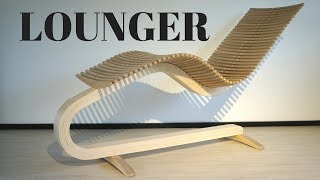 Wooden lounger chair