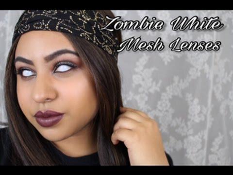 Zombie White Halloween Lenses | HoneyColor