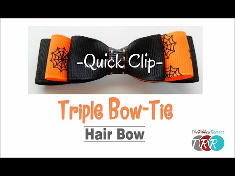 Quick Clip - How to Make a Triple Bow-Tie Hair Bow