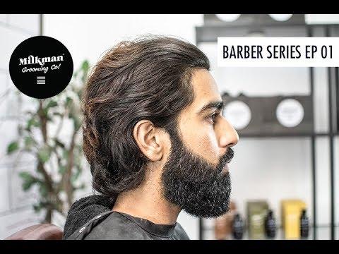 Barber Beard Trim & Shave Series Ep 01 (Big Beard Styling)