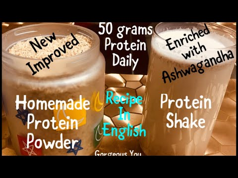 HOMEMADE PROTEIN POWDER|HOW TO MAKE PROTEIN POWDER AT HOMEघर पर ही बनाए प्रोटीन पाउडर और बॉडी बनाए