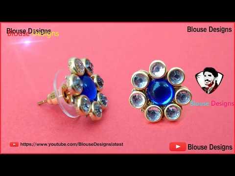 How to make studs earrings, Diy stud earrings, jewelry making