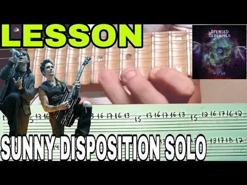 Sunny Disposition Lesson w/ TAB(Avenged Sevenfold)NEW SONG 2016 Vídeo aula com tablatura