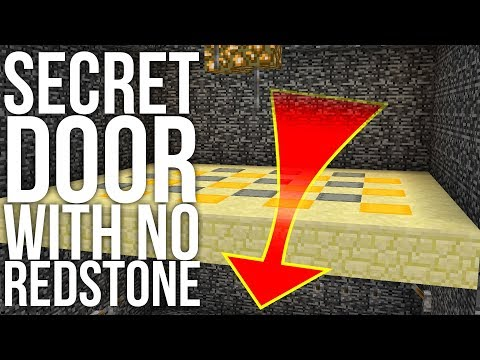 Secret Trapdoor Without Redstone in Minecraft