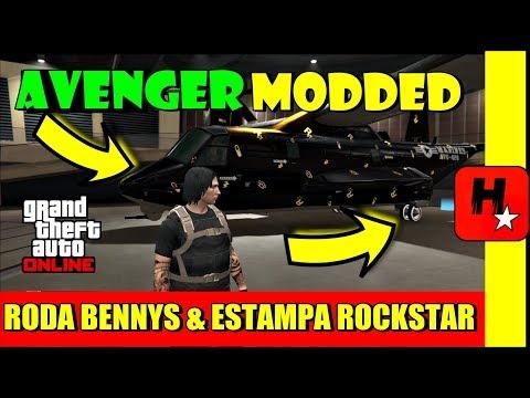 GTA 5 ONLINE COMO OBTER O AVENGER MODDED COM RODA BENNYS E ESTAMPA DA ROCKSTAR (MONEY GLITCH)