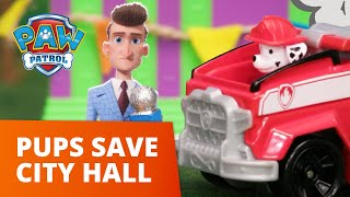 Liberty and Marshall Save the City Hall Firework Show! - PAW Patrol Toy Pretend Play Rescue