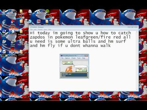how to catch zapdos (pokemon fire red/leaf green)